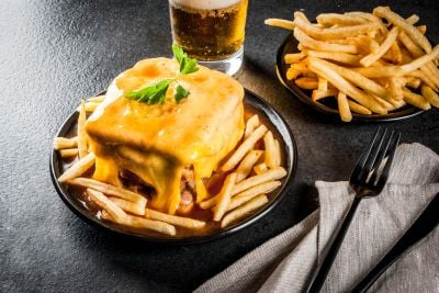 Francesinha, the most typical dish of Porto