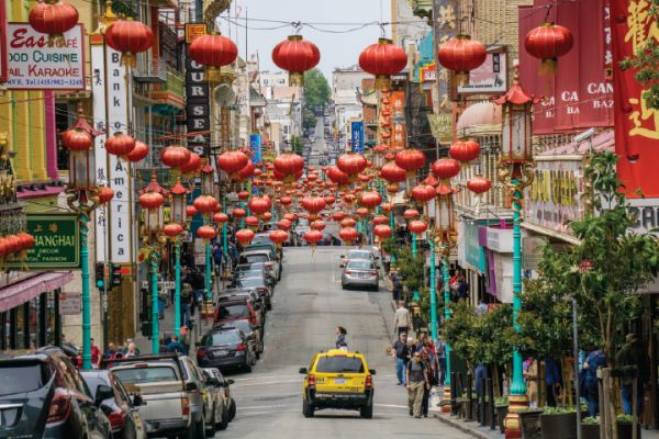 Walk down the red lantern lined Grant Street in Chinatown and pick up a bargain or two along the way.