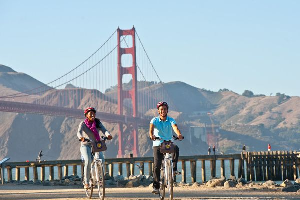 "See the city on 2 wheels, you can even ""Bike the Bridge""."