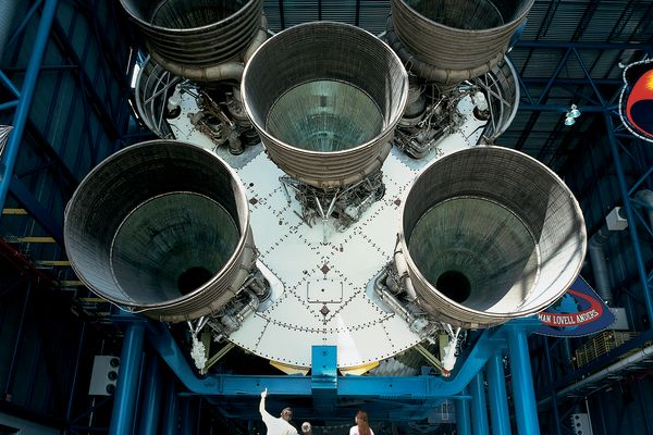 Walk Beneath a Massive Saturn V Rocket