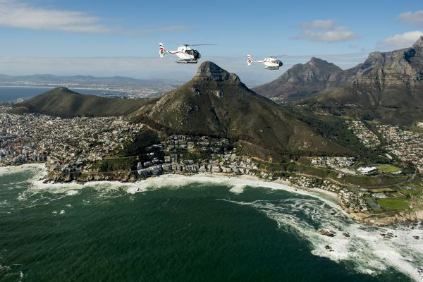 Flying above Camps Bay