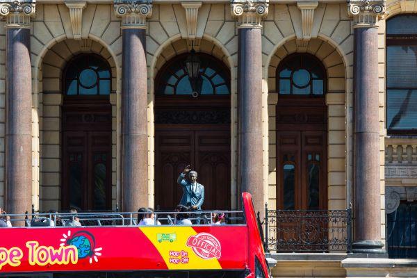 The Nelson Mandela statue