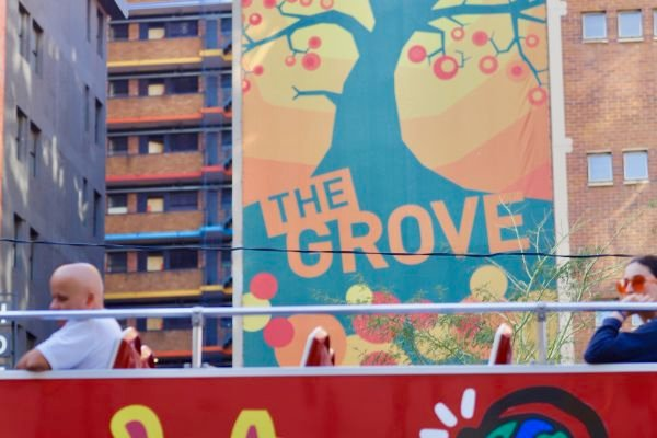 Bus at the Grove in Braamfontein