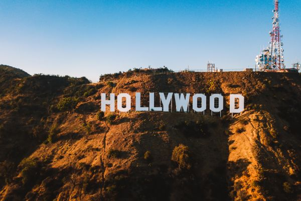 A scenic view of The Sign from Mulholland Drive