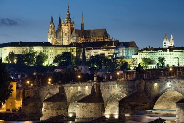 See Prague's most sought after landmark from land and water with this package.