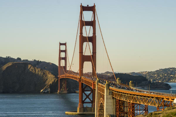 Stop at the Golden Gate Bridge and get a photo or even walk across to the other side.