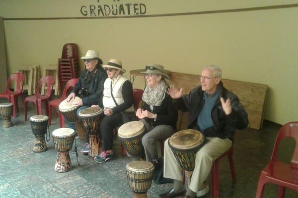 a bit of drumming