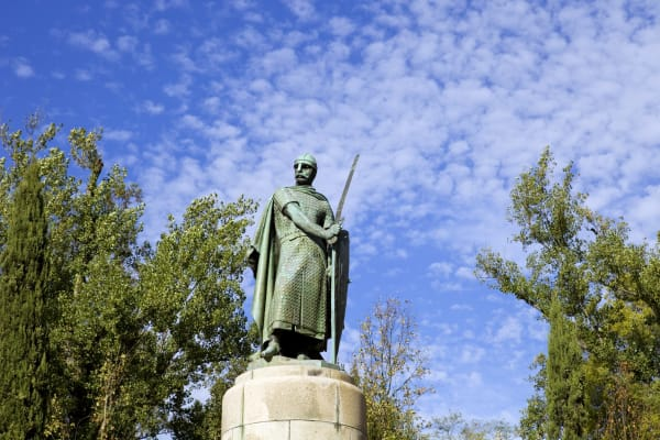 Statue of D. Afonso Henriques - the first King of Portugal