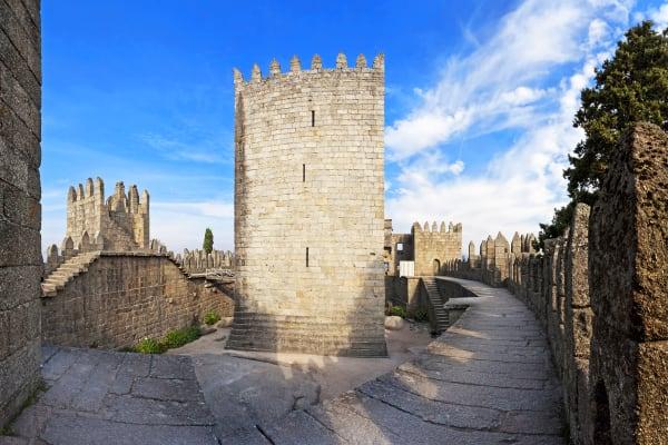 Inside the Guimarães Castle
