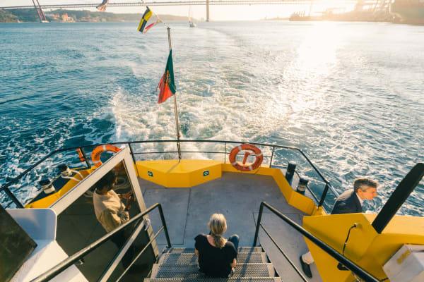 Lisbon sunset view - Yellow Boat Tour