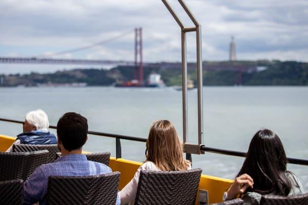 25 de Abril Bridge and Cristo Rei Statue View - Yellow Boat Tour
