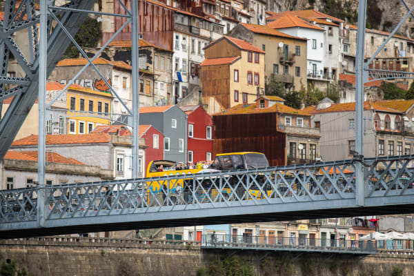 Crossing Luís I bridge - Porto Vintage Bus Tours