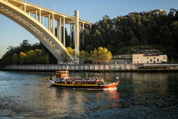Beautiful views of Porto and its bridges over Douro