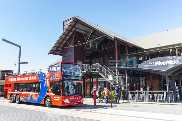 Open top bus tour around Perth