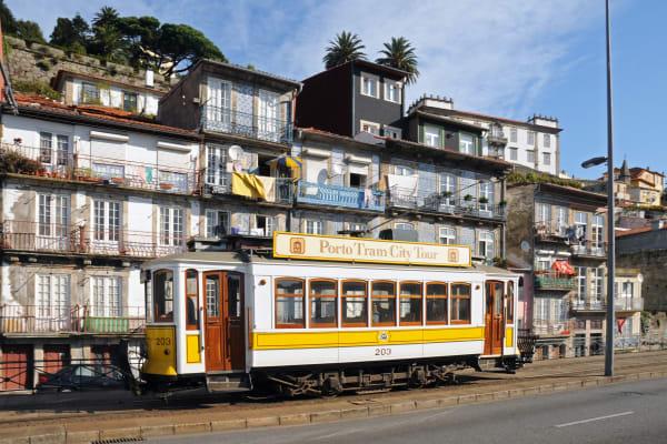 Enjoy Porto onboard a typical tram