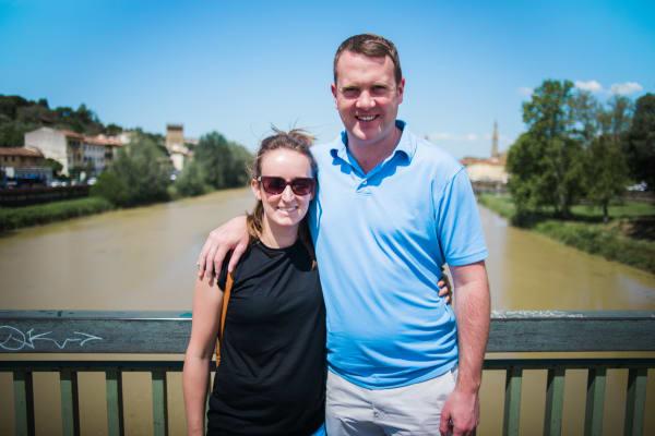 Couple along the Arno River