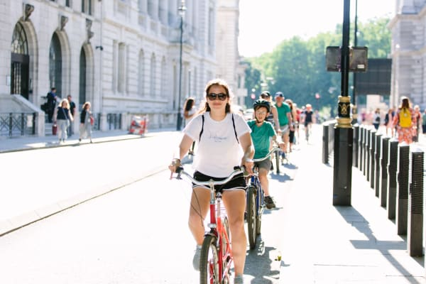 Biking through London