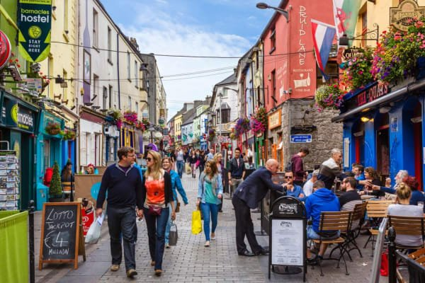 Galway's Historic City Center is packed with atmosphere, energy and charm. Hop-On or Hop-Off at the bottom of Quay St.