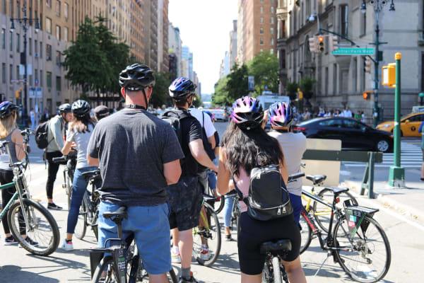 Cycling through Manhatten