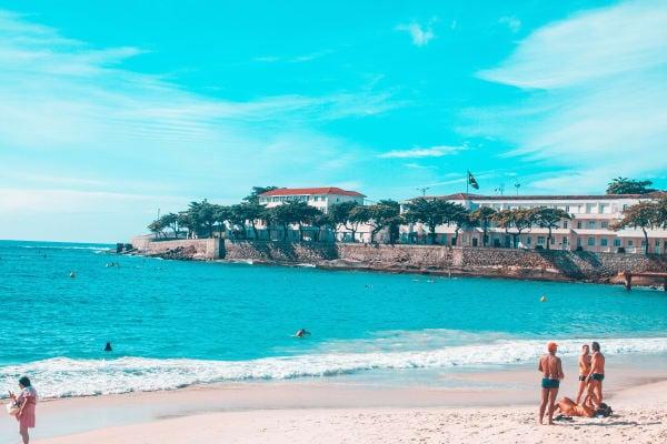 View from the Copacabana Beach